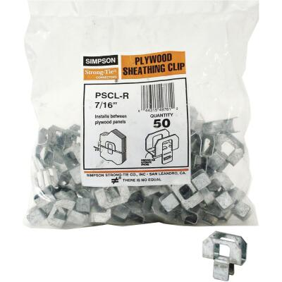 Simpson Strong-Tie 7/16 In. Galvanized Steel 20 ga Plywood Clip (50-Pack)