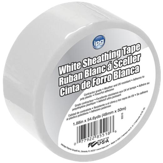 IPG 1.89 In. x 55 Yds. White Sheathing Tape