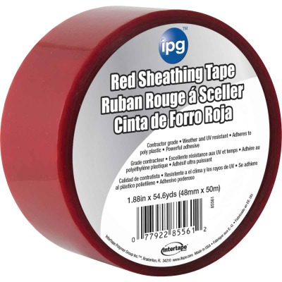 IPG 1.89 In. x 55 Yds. Red Sheathing Tape