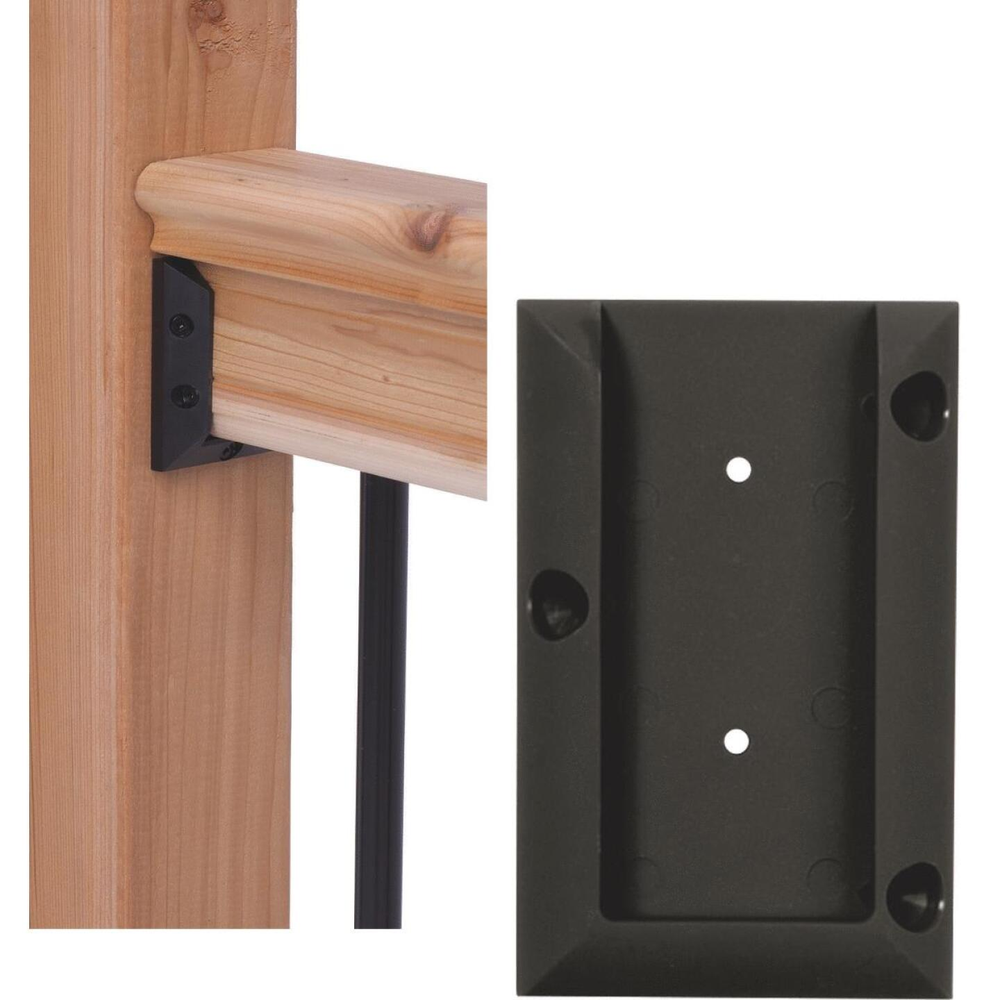 Deckorators Black Plastic Rail Bracket (2-Pack) Image 1