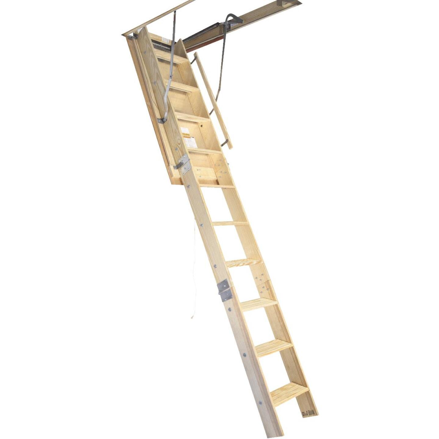 Louisville Champion 7 Ft. to 8 Ft. 9 In., 22-1/2 In. x 54 In. Wood Attic Stairs, 300 Lb. Load Image 1