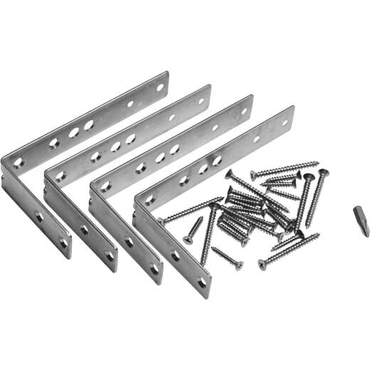 Deckorators Stainless Steel Multi-Angle Rail Bracket Hardware Kit