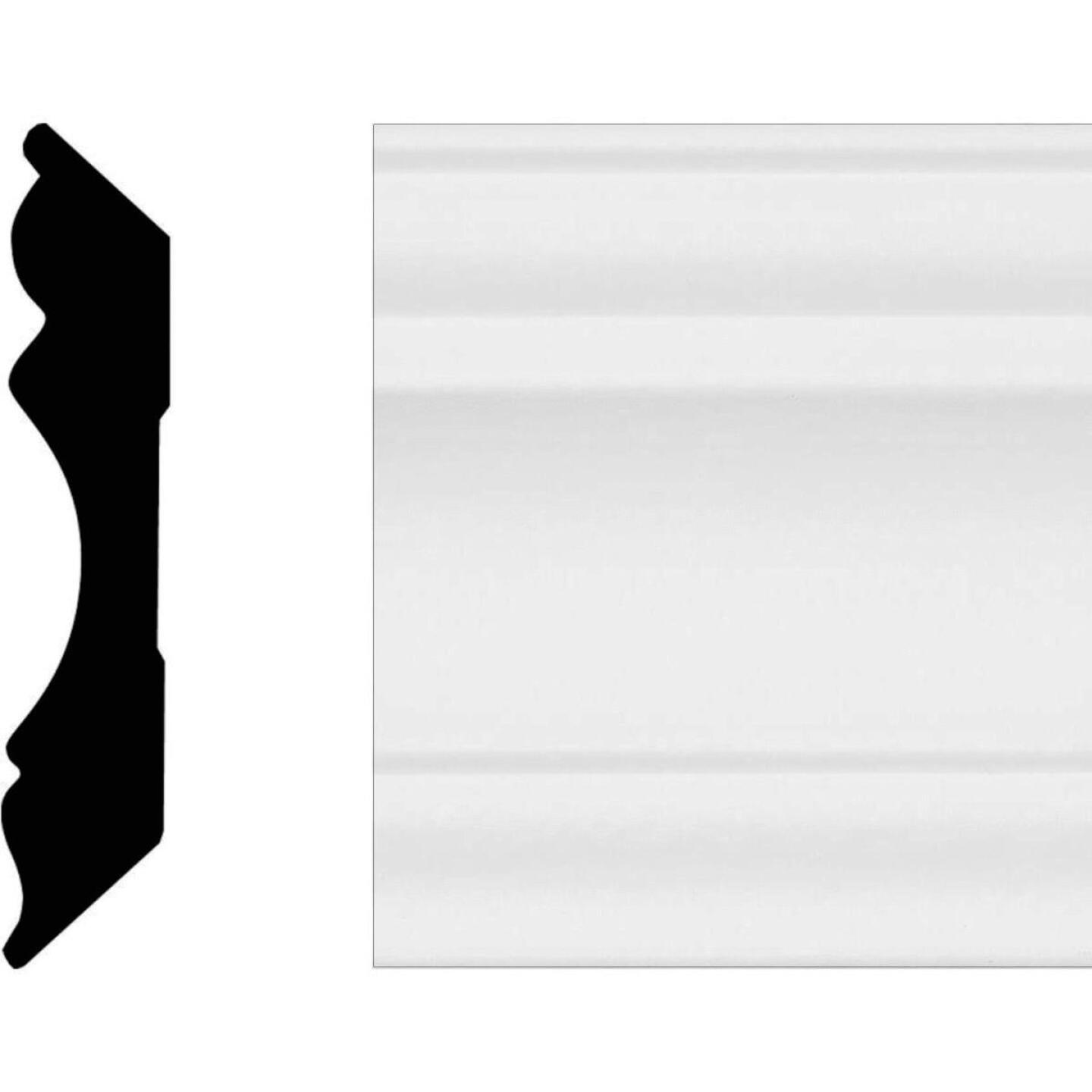 House of Fara 5/8 In. W. x 3-1/8 In. H. x 8 Ft. L. White MDF Colonial Crown Molding Image 1