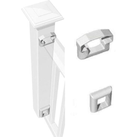 RDI Original White Vinyl Level Rail Bracket (2-Pack)