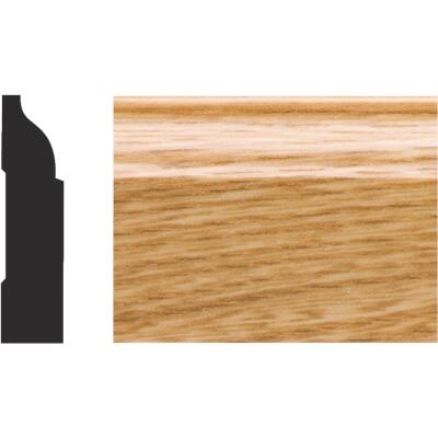 Royal 3/8 In. W. x 1-1/4 In. H. x 7 Ft. L. Imperial Oak PVC Interior Colonial Stop Molding