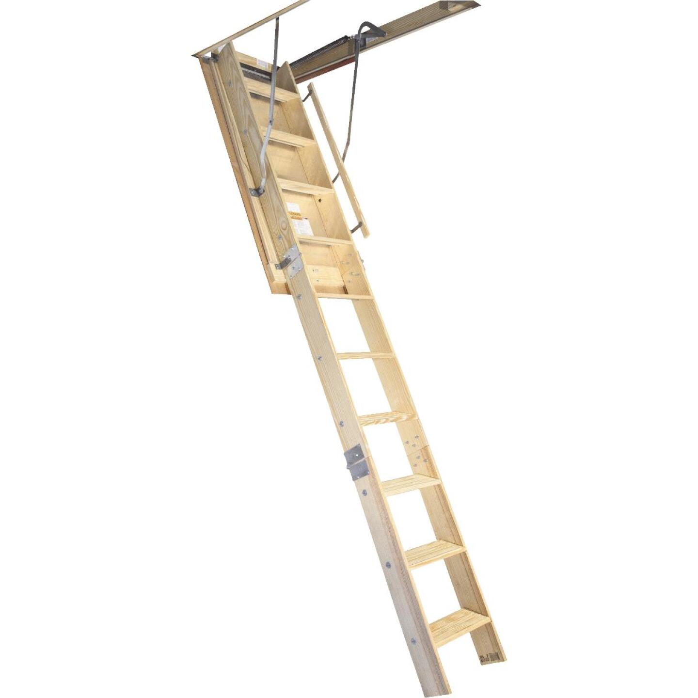 Louisville Champion 7 Ft. to 8 Ft. 9 In. 25-1/2 In. x 54 In. Wood Attic Stairs, 300 Lb. Load Image 1