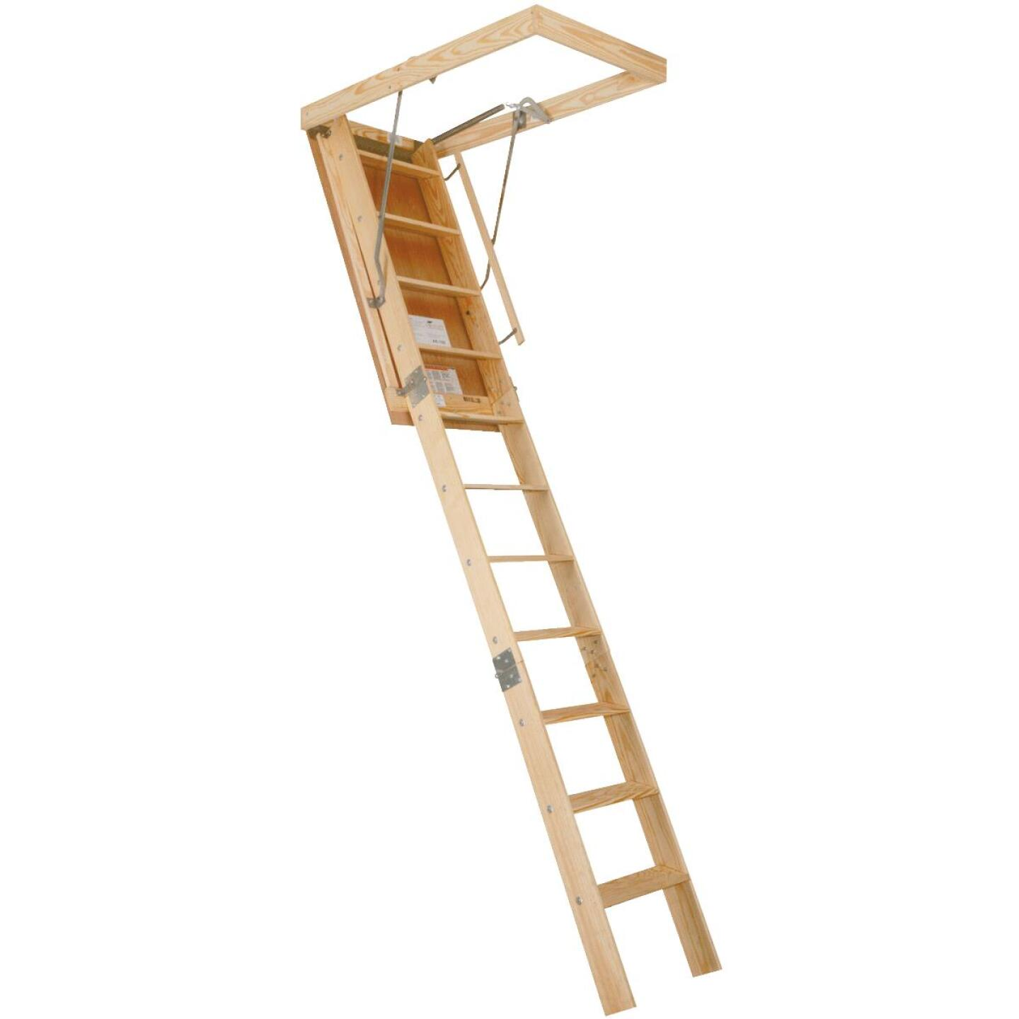 Louisville Champion 8 Ft. 9 In. to 10 In., 25-1/2 In. x 54 In. Wood Attic Stairs, 300 Lb. Load Image 1