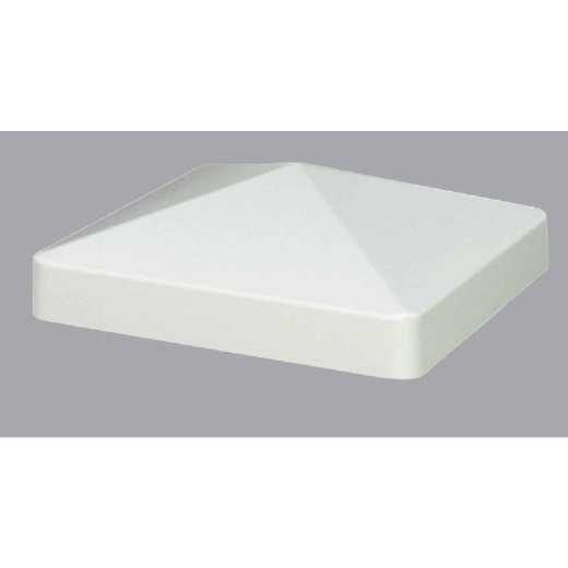 Outdoor Essentials 4 In. x 4 In. White Pyramid Vinyl Post Cap