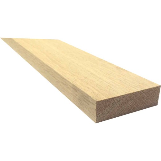 Waddell 1 In. x 3 In. x 4 Ft. Red Oak Board