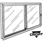 Croft Series 70 46 In. W. x 22 In. H. White Aluminum Single Glazed Sliding Window Image 1