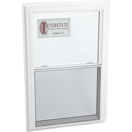 Interstate Model 5100 32 In. W. x 48 In. H. White Vinyl Double Hung Window with South Glass Pack