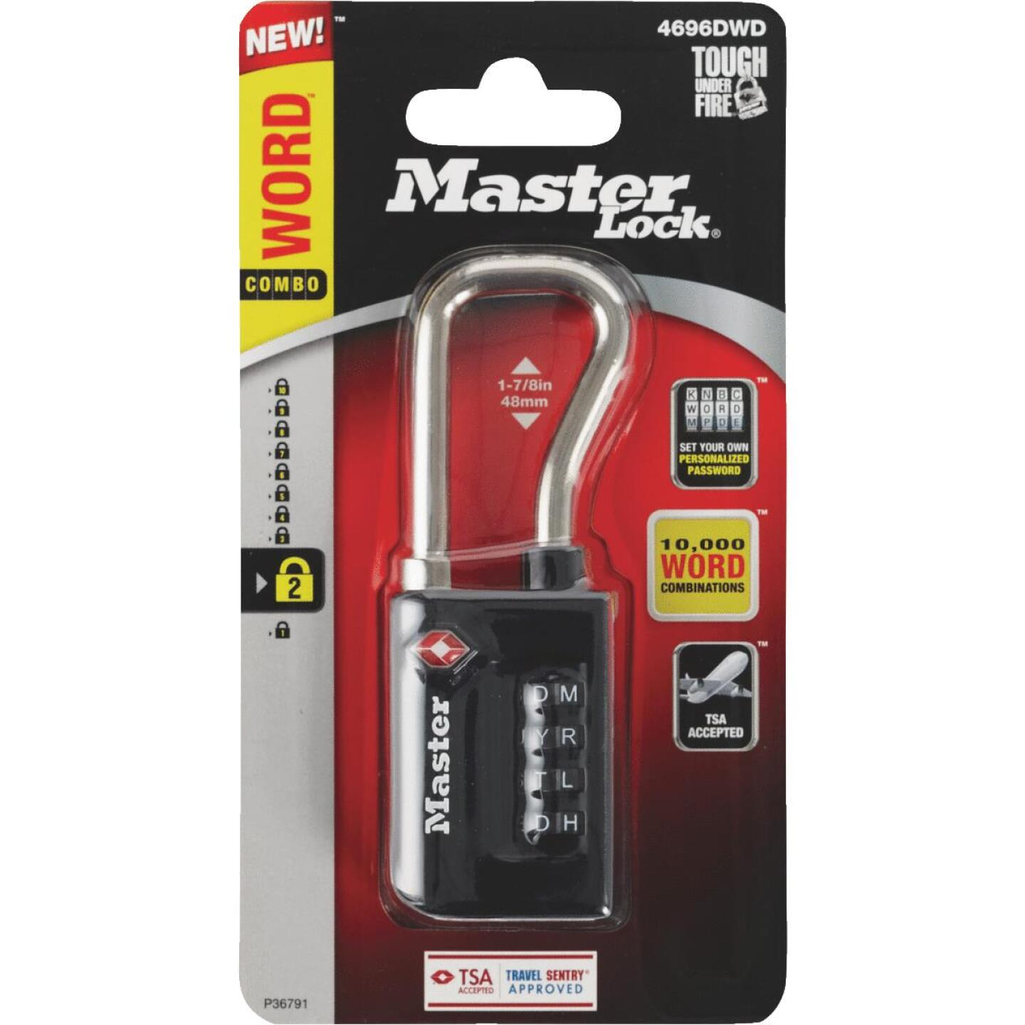 Master Lock 1-5/16 In. Wide WORD Combination Luggage Lock with Extended Reach (TSA Accepted) Image 2