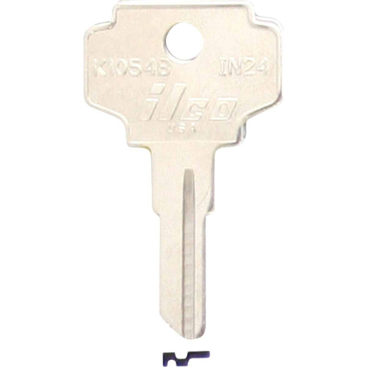 ILCO Nickel Plated File Cabinet Key, IN24 (10-Pack)