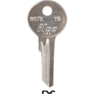 ILCO Yale Nickel Plated House Key, Y6 (10-Pack)
