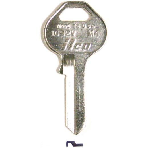 ILCO Master Nickel Plated Padlock Key, M4 (10-Pack)
