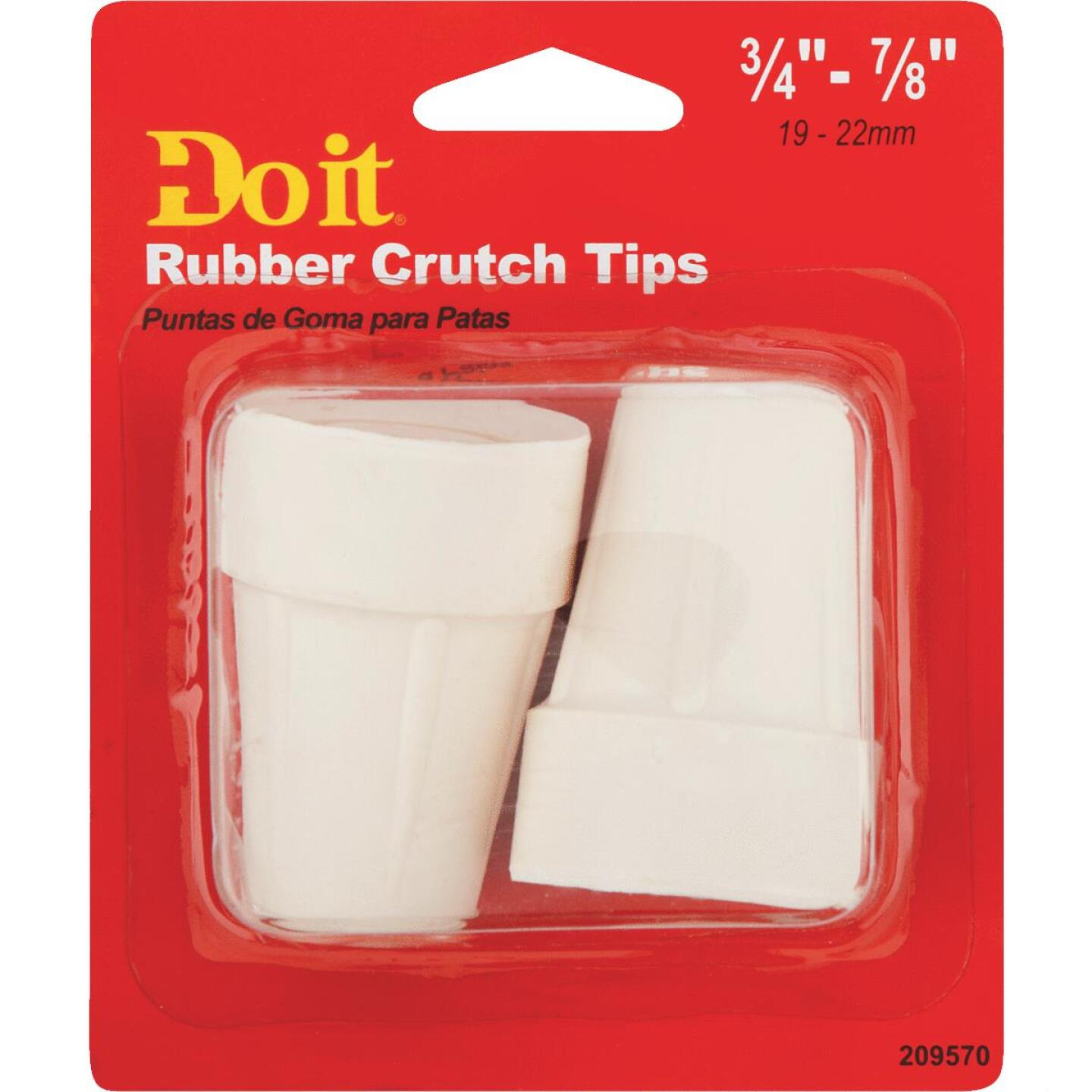 Do it Rubber Off-White 3/4 In. Crutch Tip,(2-Pack) Image 2