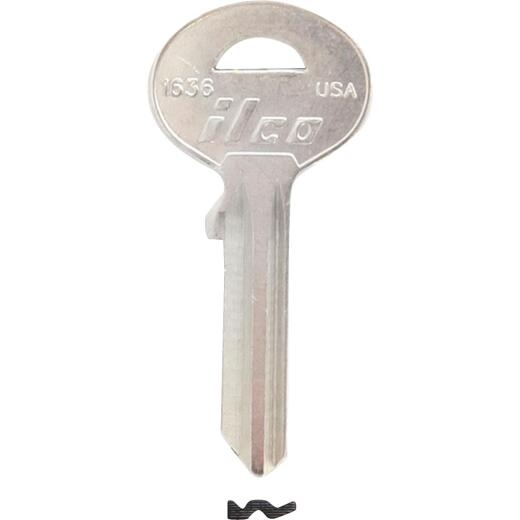 ILCO SUN WILSON Nickel Plated Safe Key, 1636 (5-Pack)