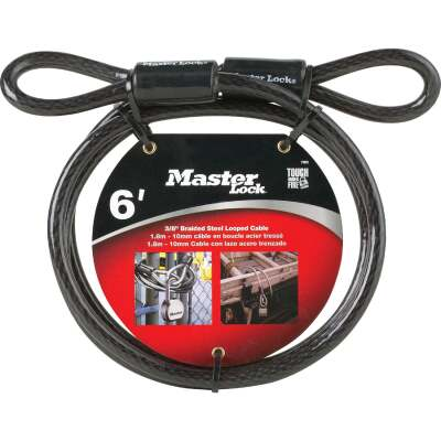 Master Lock 6 Ft. x 3/8 In. Steel Cable