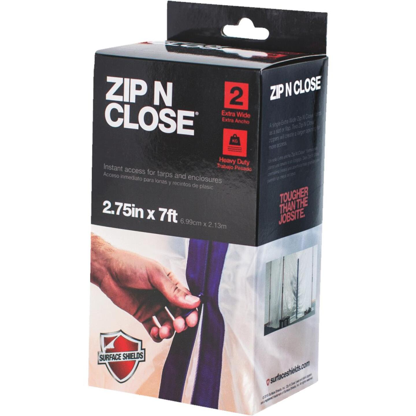 Surface Shields Zip N Close 2 3/4 In. X 7 Ft. Blue Peel and Stick Plastic Barrier Zipper (2-Pack) Image 1