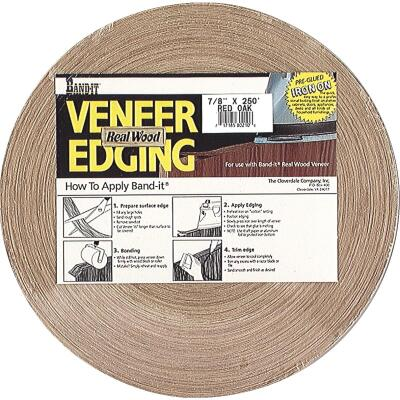 Cloverdale Band-It ProPak 3/4 In. x 250 Ft. Red Oak Wood Veneer Edging