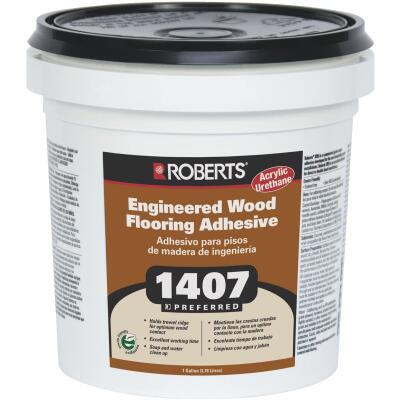 Roberts Acrylic Latex Wood Floor Adhesive, 1 Gal. Tub