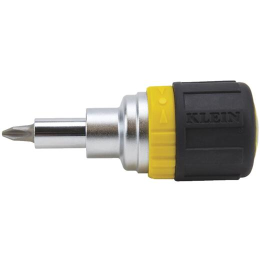 Klein 6-in-1 Stubby Ratcheting Screwdriver