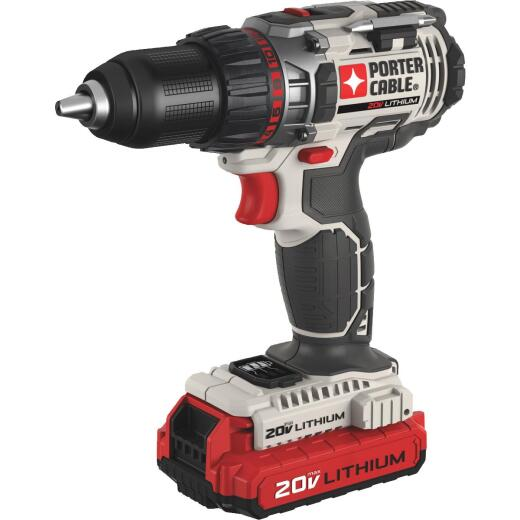 Porter Cable 20 Volt MAX Lithium-Ion 1/2 In. Cordless Drill Kit