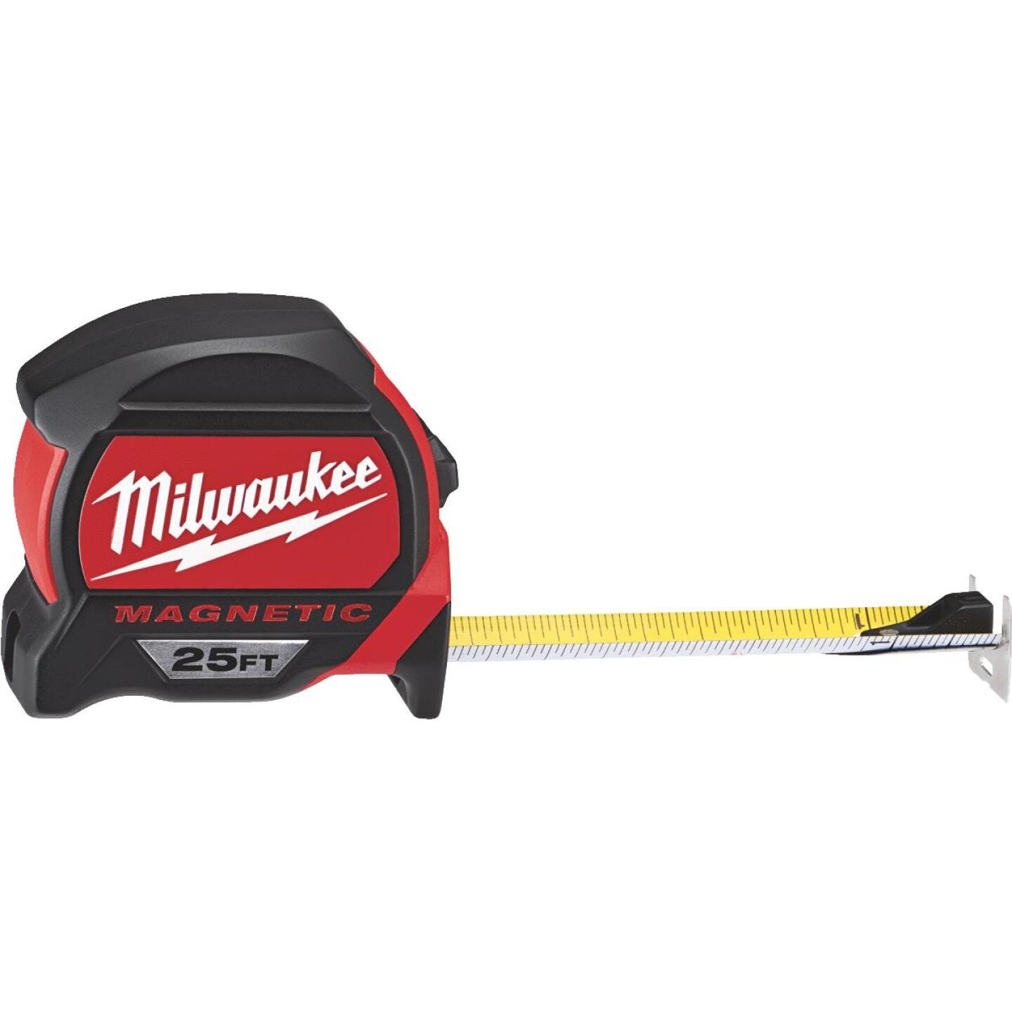 Milwaukee 25 Ft. Magnetic Tape Measure with Blueprint Scale Image 1