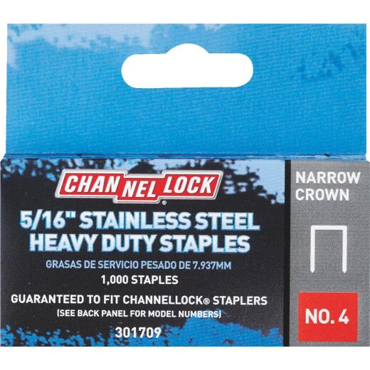 Channellock No. 4 Narrow Crown Stainless Steel Staple, 5/16 In. (1000-Pack)