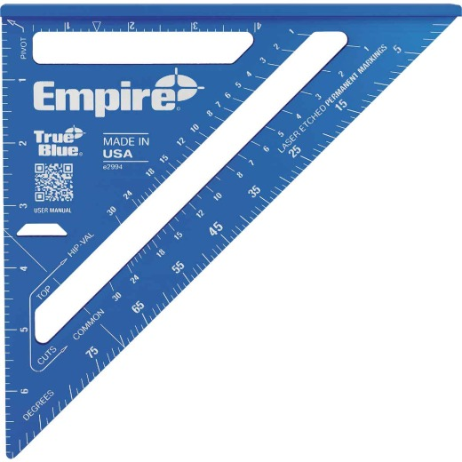 Empire True Blue 7 In. Aluminum Laser Etched Rafter Square