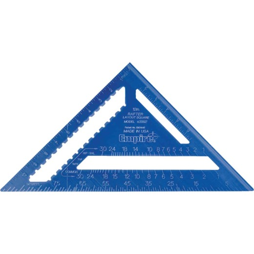 Empire True Blue 12 In. Aluminum High-Visibility Rafter Square