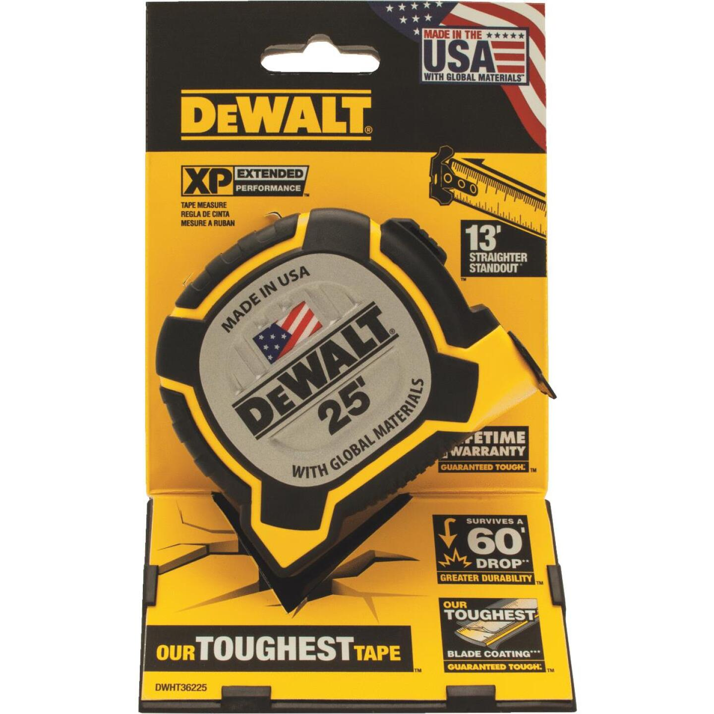 DeWalt XP 25 Ft. Tape Measure Image 2