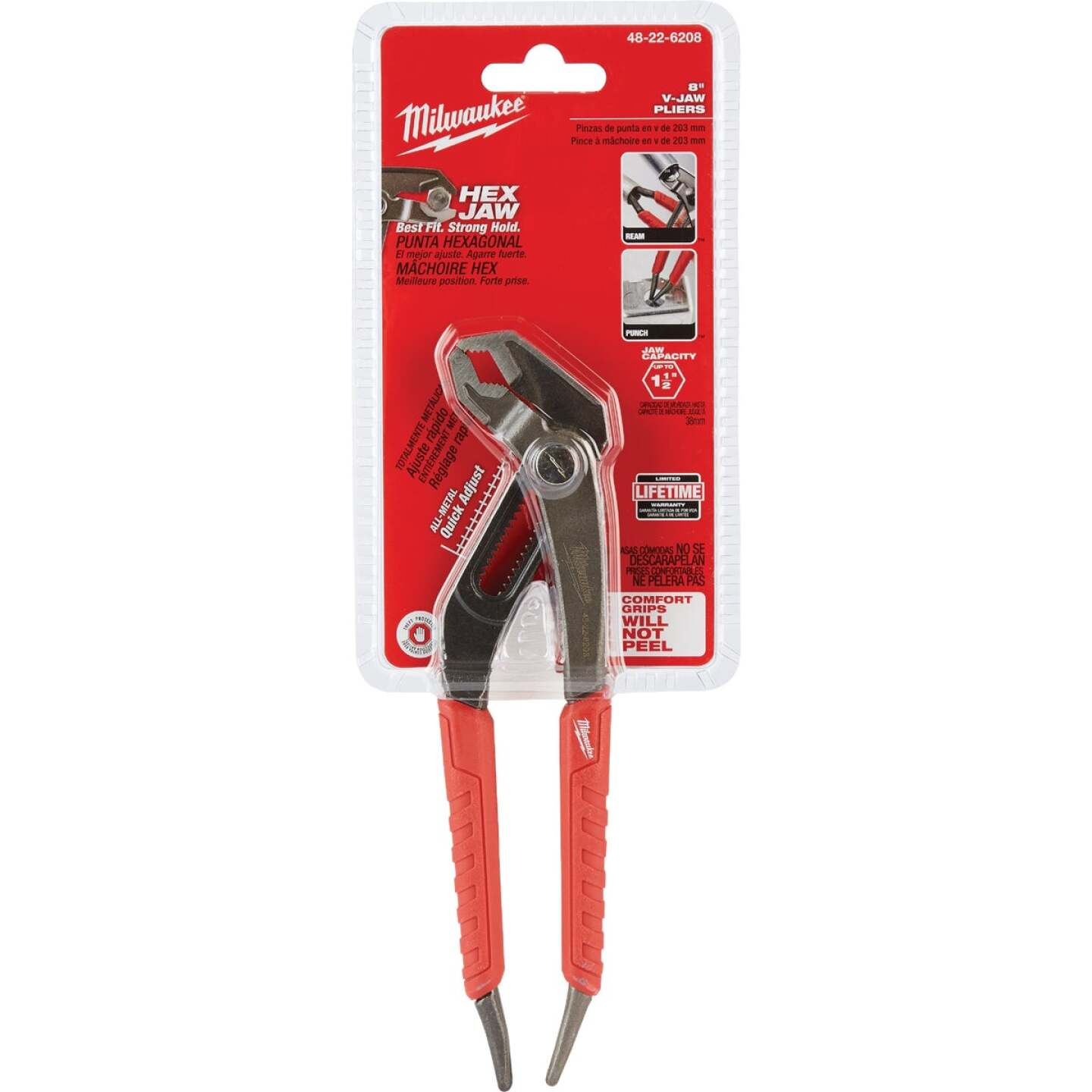 Milwaukee 8 In. V-Jaw Groove Joint Pliers Image 1