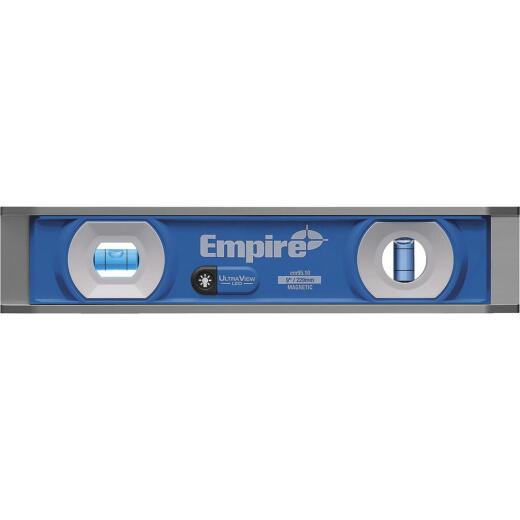 Empire 9 In. Aluminum Magnetic UltraView LED Torpedo Level