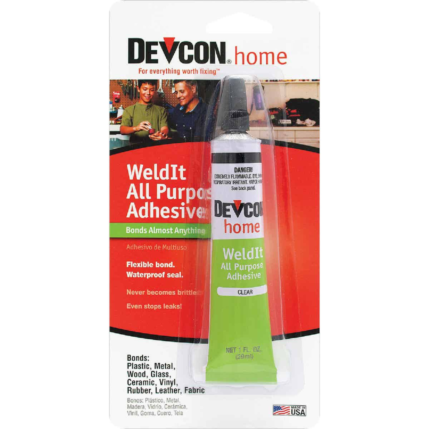Devcon All Purpose 1 Oz. WeldIt Household Cement Adhesive Image 1
