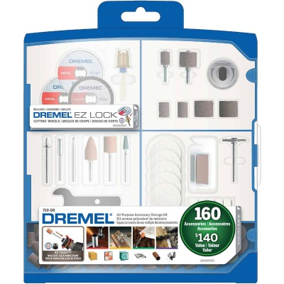 Dremel All-Purpose Rotary Tool Accessory Kit (160-Piece)