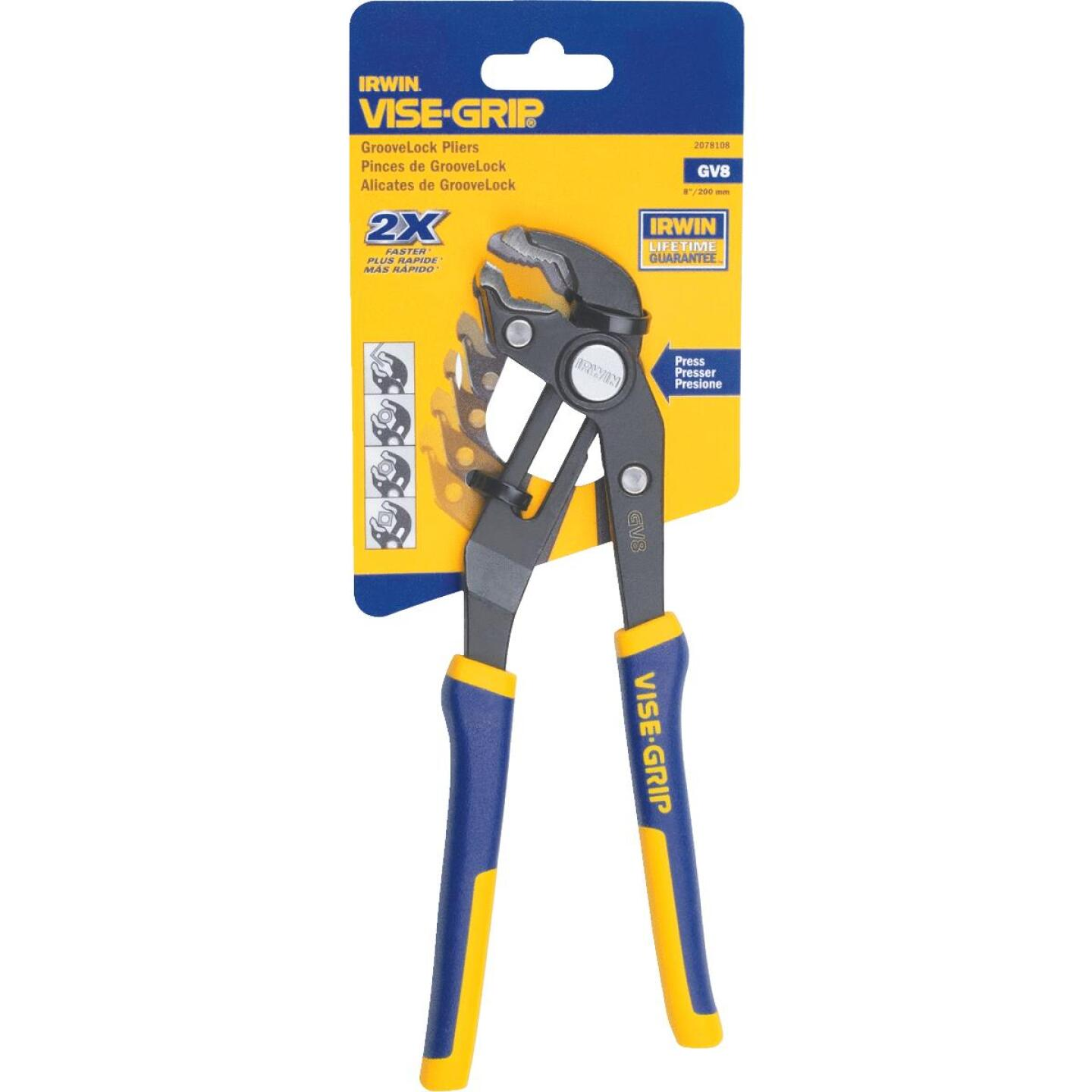 Irwin Vise-Grip 8 In. V-Jaw GrooveLock Groove Joint Pliers Image 6