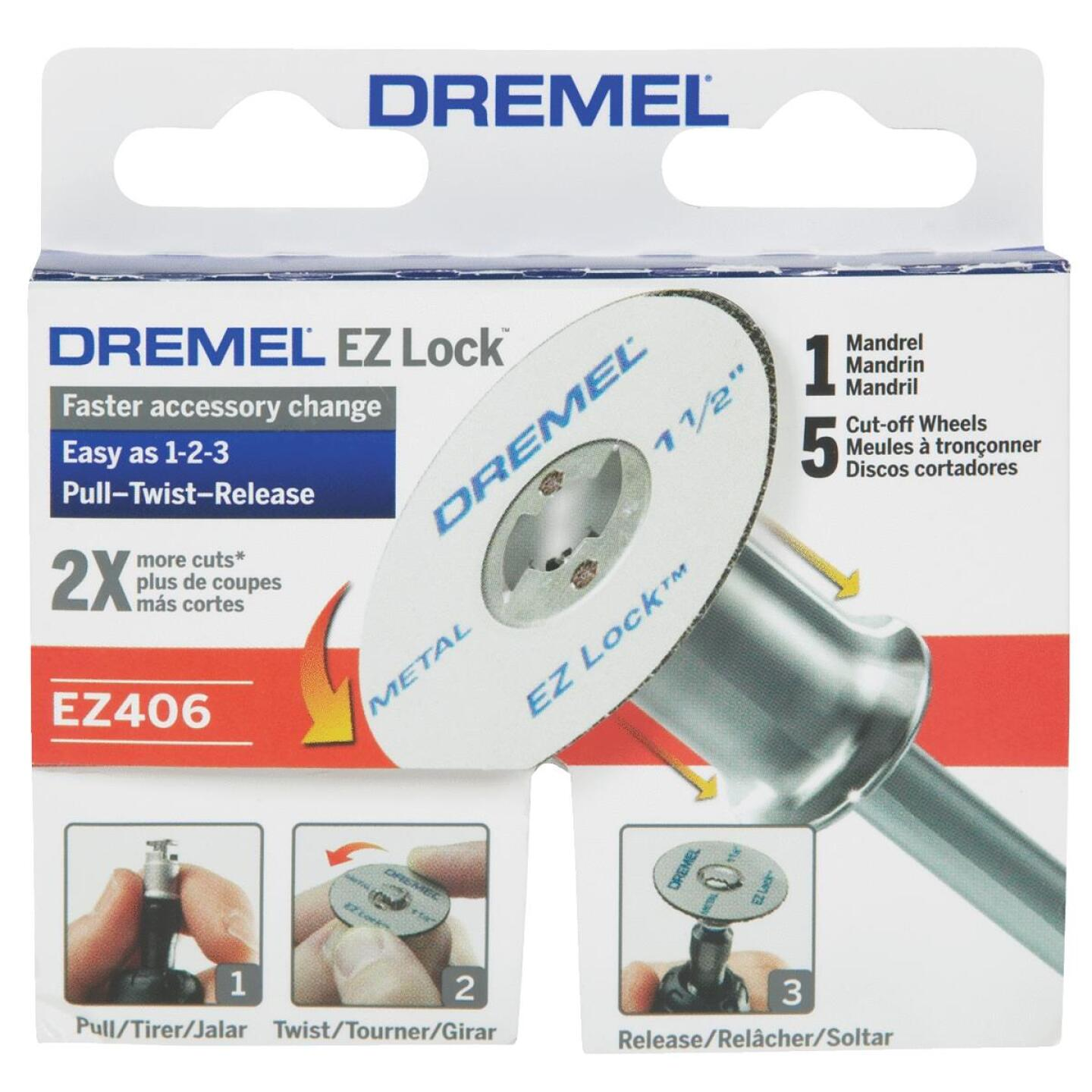 Dremel EZ Lock Mandrel and Cut-Off Wheel Starter Rotary Tool Accessory Kit (5-Piece) Image 2