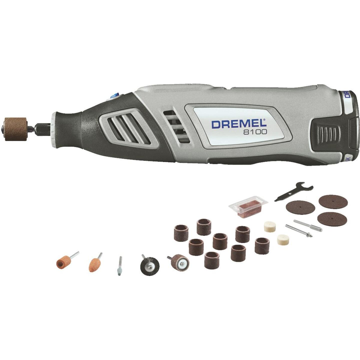 Dremel 8 Volt MAX Lithium-Ion Variable Speed Cordless Rotary Tool Kit Image 1