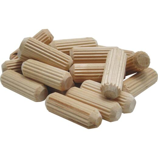 General Tools 1/4 In. Fluted Hardwood Dowel Pin (72-Count)
