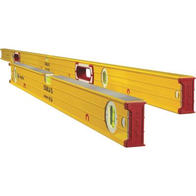 Stabila 78 In. and 32 In. Aluminum Magnetic Box Level 2 Piece Set