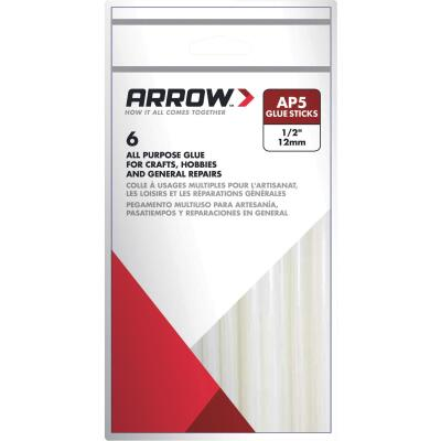Arrow 4 In. Standard Clear Hot Melt Glue (6-Pack)
