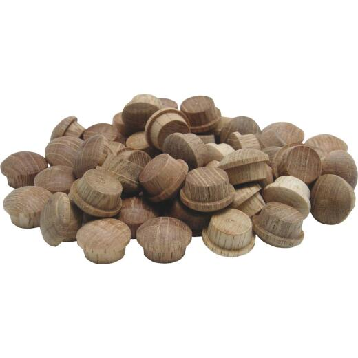 General Tools 1/2 In. Oak Round Head Button Plug (50-Count)