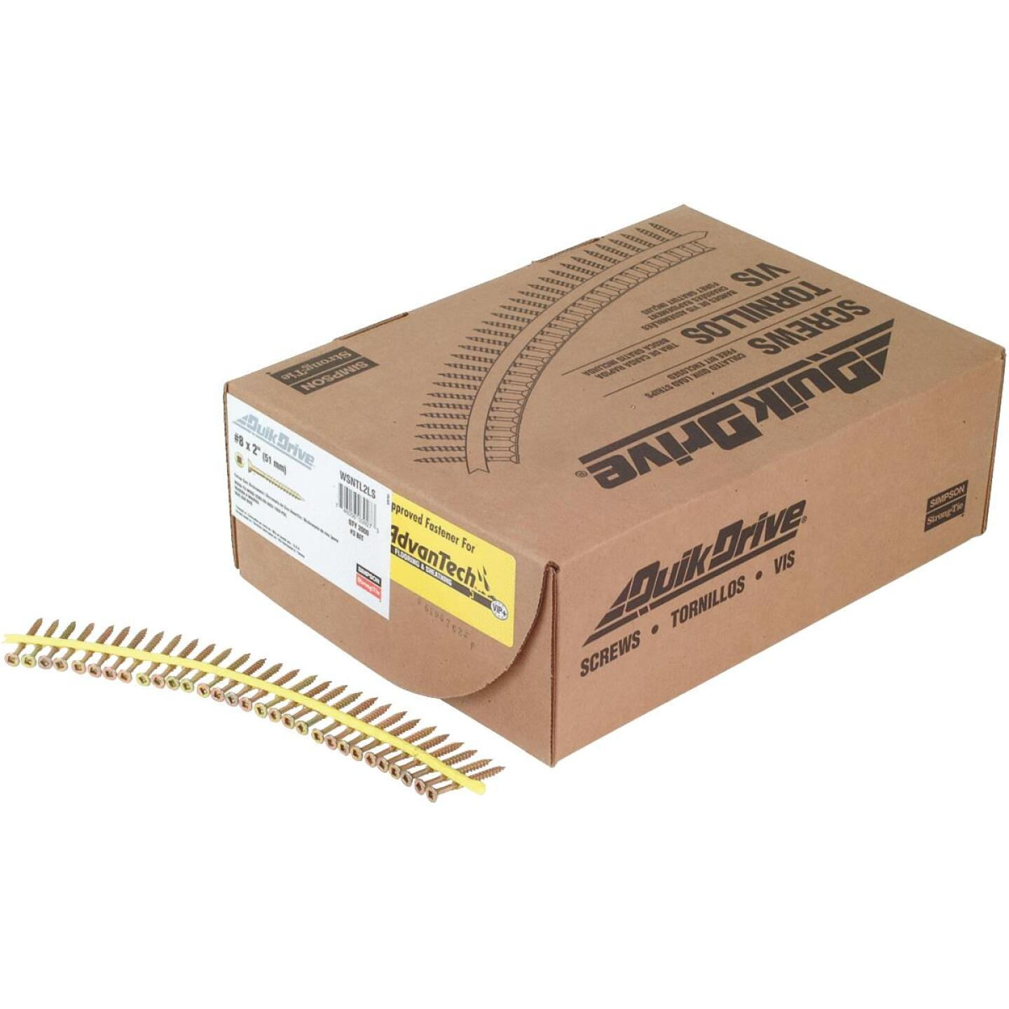 Quick Drive Strong-Drive #9 x 2 In. T-25 WSV Subfloor Collated Wood Screw, Yellow Zinc Finish(2000-Ct.) Image 1