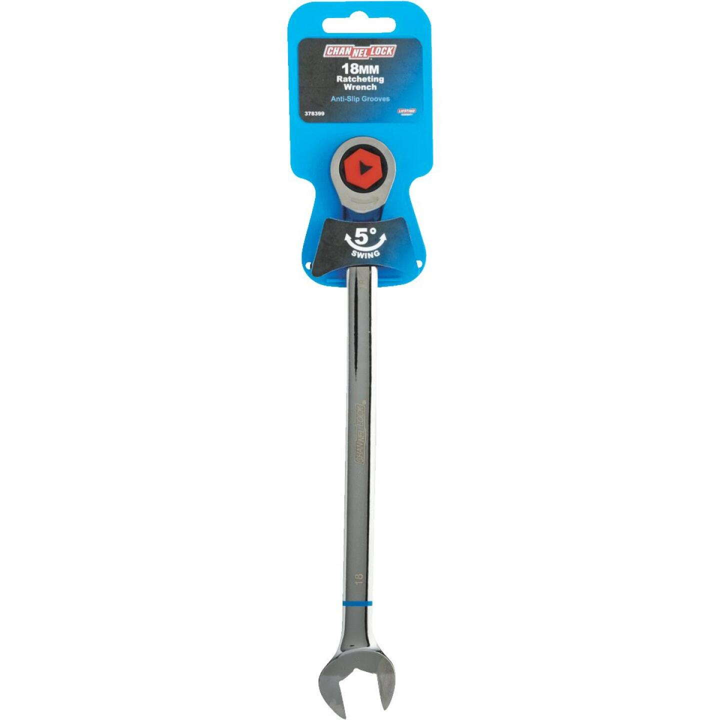 Channellock Metric 18 mm 12-Point Ratcheting Combination Wrench Image 2
