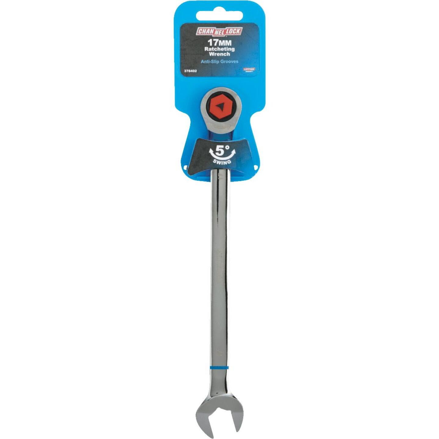 Channellock Metric 17 mm 12-Point Ratcheting Combination Wrench Image 2