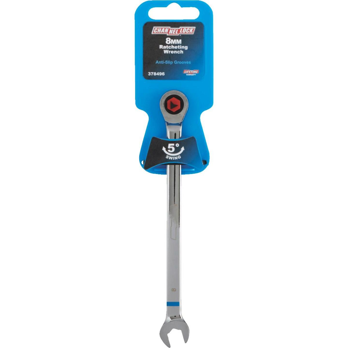 Channellock Metric 8 mm 12-Point Ratcheting Combination Wrench Image 2