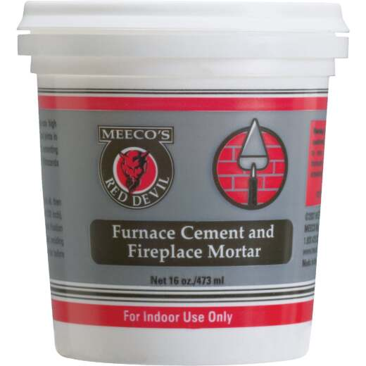 Meeco's Red Devil 1 Pt. Gray Furnace Cement & Fireplace Mortar