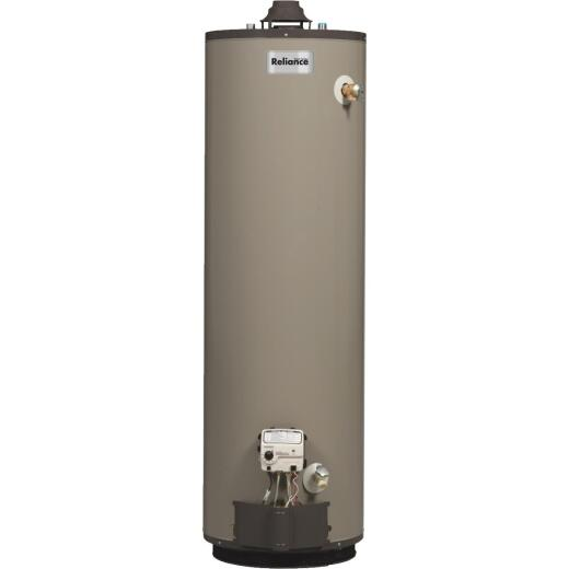 Reliance 40 Gal. Tall 9 Yr. 40,000 BTU Self-Cleaning Natural Gas Water Heater