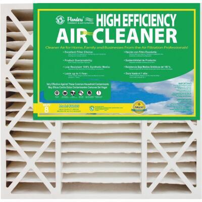Flanders 20 In. x 20 In. x 4-1/2 In. Deep Pleat High Efficiency MERV 8 Furnace Filter